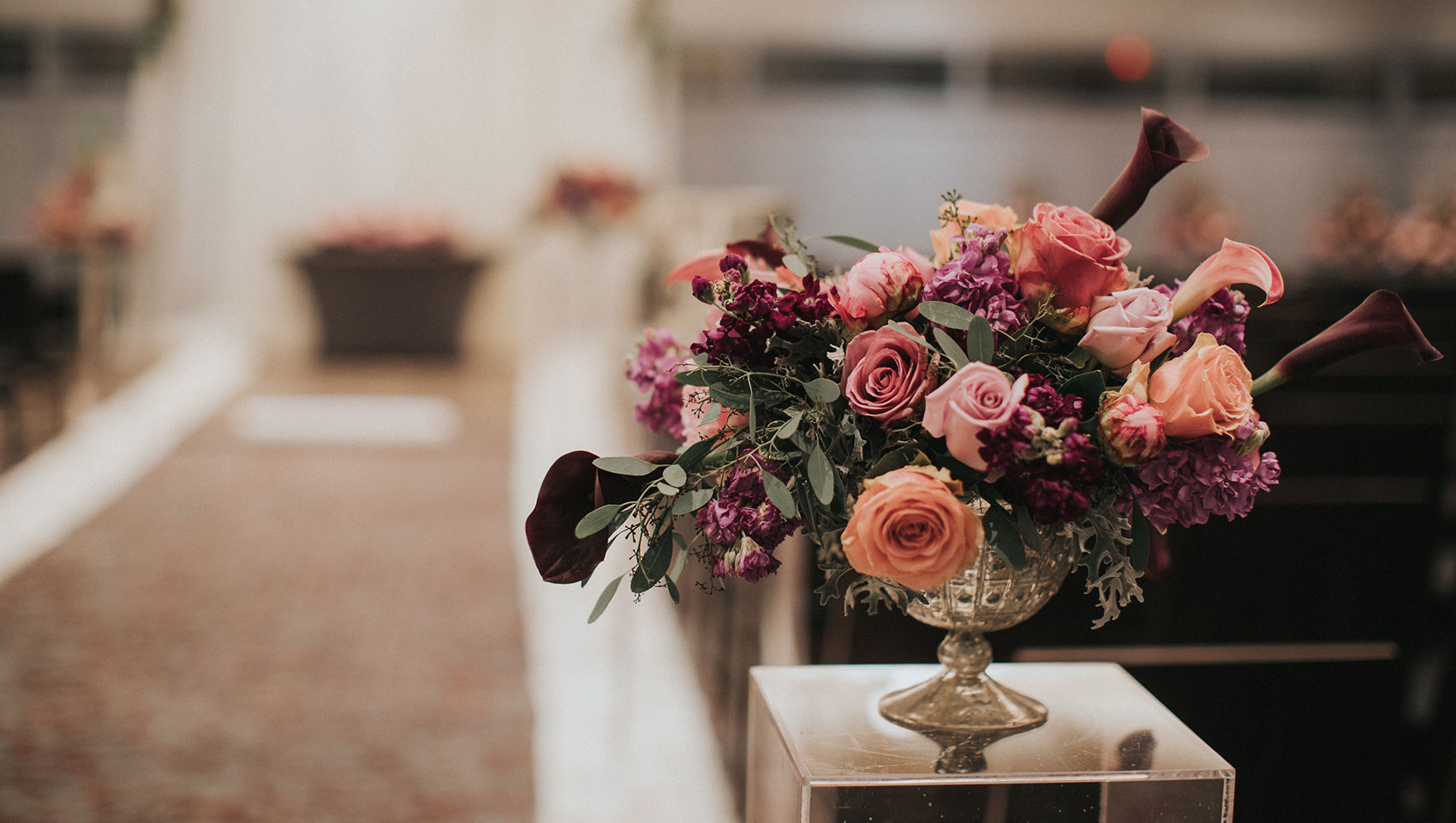 Bouquet of Flowers on a pedestal