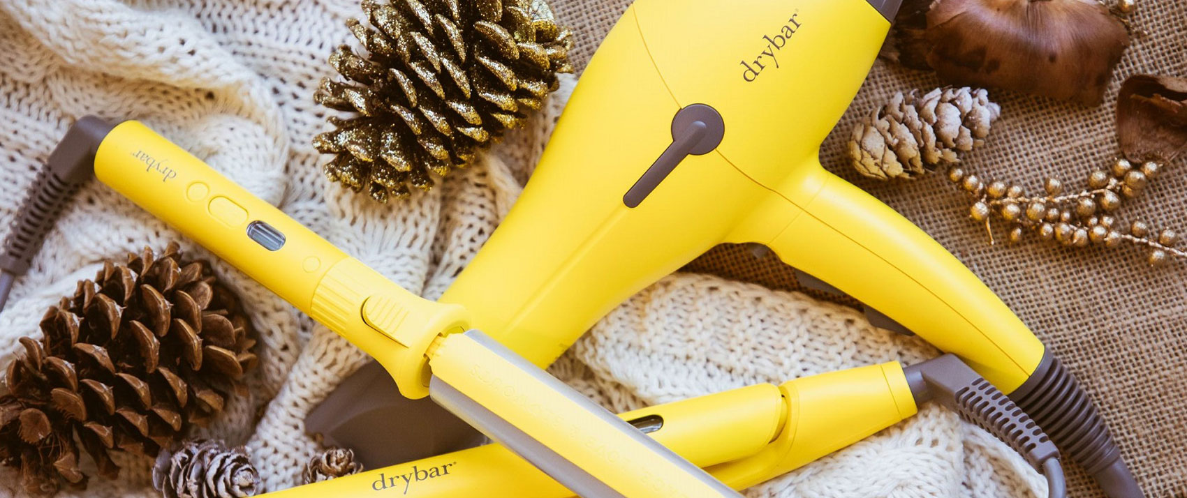 Drybar iron and blowdryer